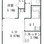 202号室、301号室、302号室(間取)