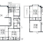 B棟間取り図(1~2階部分)(間取)