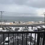 バルコニーから日本海を望む(眺望)