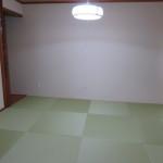 リビング横の琉球畳風和室(和室)