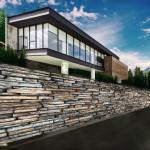 建物完成イメージ 現在の地形を生かして建築するイメージ