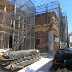現在建築中。9月完成予定(外観)