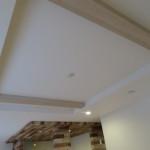 ダイニング上部は折り上げ天井(リビング)