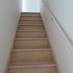リビング階段で安心。手すり付き(リビング)