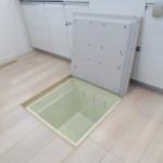 キッチン床下収納。(収納)