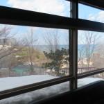 室内から日本海を望む(眺望)