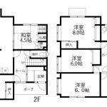 住宅間取り図2,3階(間取)
